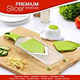Premium Mandoline Slicer - Vegetable Slicer - Vegetable Chopper - Vegetable Cutter - French Fry Cutter - Tomato...