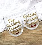 Engagement gift, engagement wine glasses