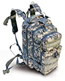 "Ultimate Arms Gear ACU Army Digital Camo Camouflage Heavy Duty Combat Multi-Functional Equipment Survival Assault Transport Medium 17"" Bug-Out Bag BackPack with Adjustable Slip Shoulder Detachable Length Straps MOLLE Modular PALS Attachment System Shooting Range Military Army Patrol Paintball Hunting Camping Law Enforcement Travel Vacation Heavy Duty Patrol Gear Rucksack Pack AMB3 Level 3"