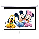 Screen Technics Instalock Projector Screen 5x7 With Big Black Border Of 24 Inches Super Deluxe Grade