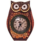 Wooden Owl Table Clock