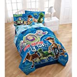 Toy Story Circles Twin Comforter - Buzz Lightyear Woody Blanket Twin Bed