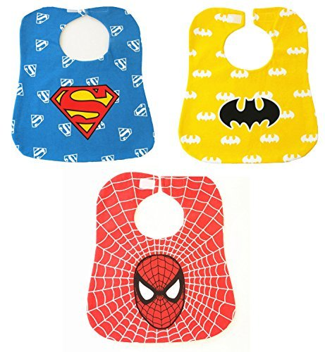 Baby-Bibs-Kids-Saliva-Towel-Waterproof-Lunch-Bibs-Boys-Girls-Infants-Super-Hero-Pattern-Bibs-Baby-Bibs-Burp-Cloths3-Pack