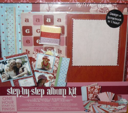 Colorbok Step By Step 8 X 8 Album, Red Floral Box Kit