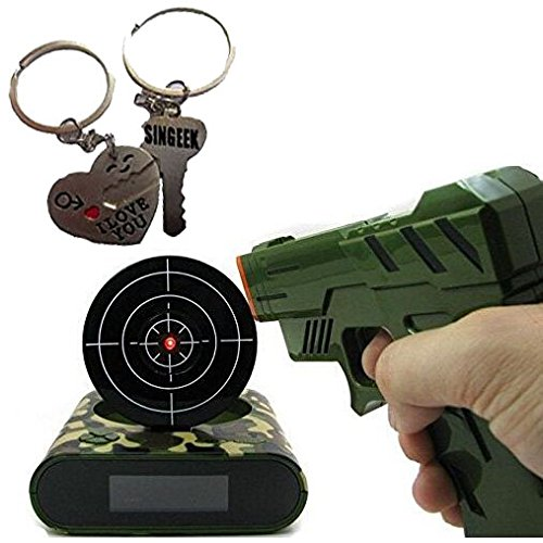 Singeek Lock N' load target alarm clock/Gun alarm colck (camouflage color)