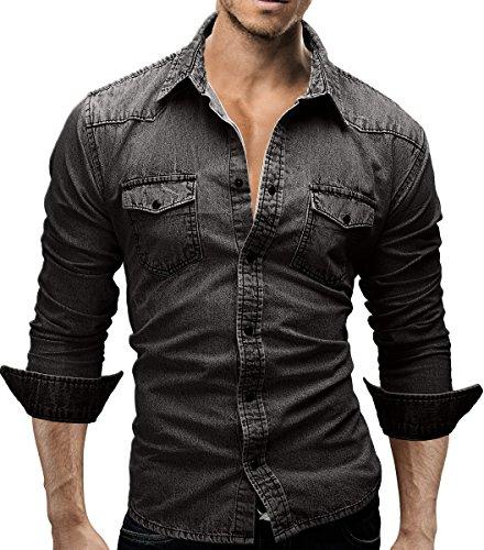 mens-dress-shirt-jeans-slim-fit-slim-fit-denim-casual-long-arms-latest-merish-46-anthracite-l