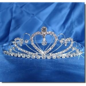Buy Bridal Wedding Tiara Crown With Crystal Heart
