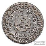 Marruecos km-No.. : 48 1370 muy ya Aluminio 1370 5 FF Estrella (monedas para los coleccionistas)