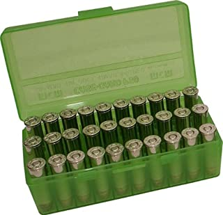MTM 50 Round Flip-Top Ammo Box 380/9MM Cal (Clear Green)
