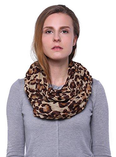 Scarfand's Leopard Infinity Scarf (Camel)