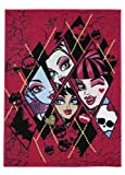 Associated Weavers Children's Rug with Monster High 01 Checkers Design 95 x 133 cm