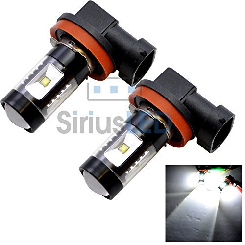Pair Of H8 Drl Fog Light Led 30W 6000K Super Bright White Projection 2014 New