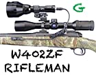 Wicked Lights W402ZF Rifleman Kit with GREEN LED for Predator & Hog Night Hunting complete light kit