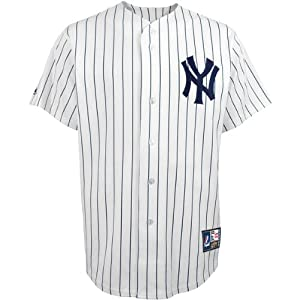 MLB Mickey Mantle #7 Yankees Cooperstown Replica Jersey, White Navy by Majestic Athletic