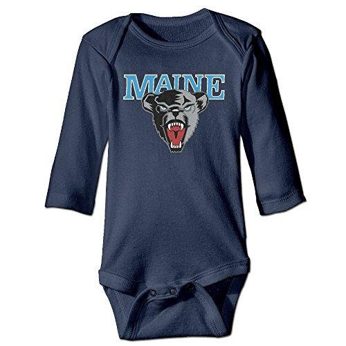 OOKOO Baby's University Of Maine Black Bears Bodysuits Navy 24 Months (Kitchenaid Blender Ice Blue compare prices)