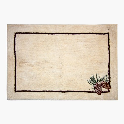 Bacova Guild Pine Cone Branches Bath Rug 080166116456