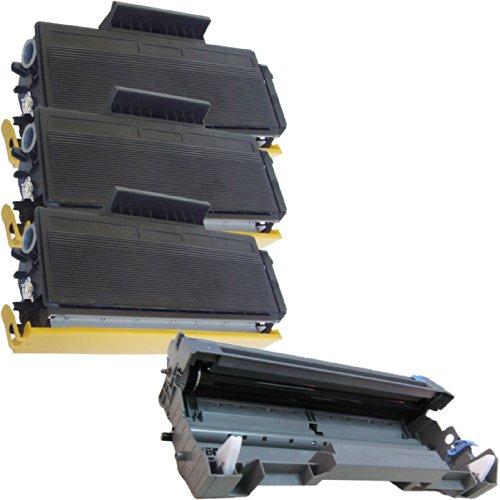 (1 Drum + 3 Toner) Inktoneram® Replacement Toner Cartridges & Drum For Brother Tn620 Dr620 Toner Cartridges & Drum For Brother Dr-620 Tn-620 Set