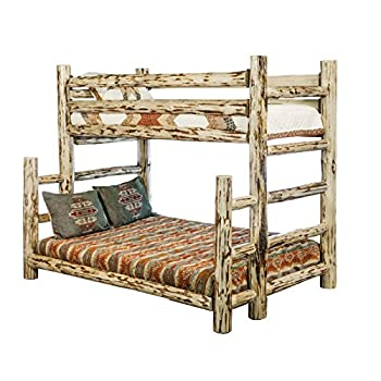 Montana Woodworks MWBBTFNV Montana Collection Full Bunk Bed, Twin, Clear Lacquer Finish