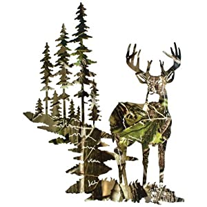 Camouflage Wall Mural Of Lazart Whitetail Deer Wall Art Camo Realtree