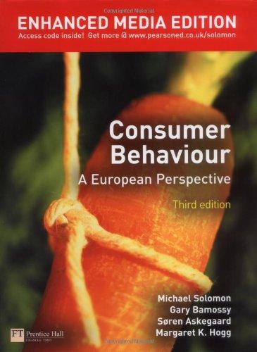 Consumer Behaviour: A European Perspective Enhanced Media Edition Pack