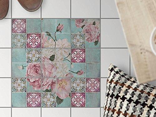 fliesen mosaik klebe folie sticker aufkleber badfolie k chen fliesen fu boden deko 15x15 cm. Black Bedroom Furniture Sets. Home Design Ideas