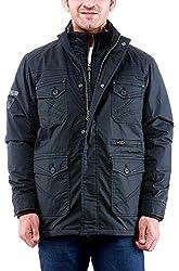 Time Option Men's Cotton Jacket (5002_Black_38)