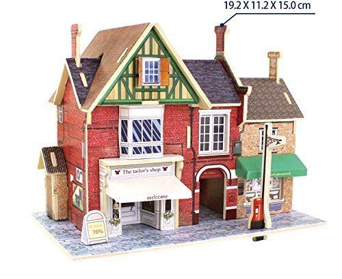 3D Wood Puzzle Model Tailor Sewing Store Shop UK United Kingdom Folk Robotime by Best-mall [並行輸入品]