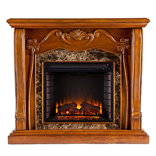 Sei Amz4669E Cardona Electric Fireplace, Walnut