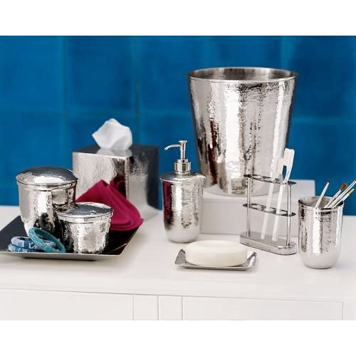 Pottery barn hammered nickel bath accessories for Bathroom ideas amazon