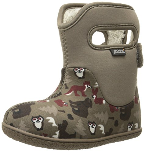 Bogs Baby Classic Woodland Waterproof Insulated Rain Boot, (Infant/Toddler/Little Kid/Big Kid), Brown/Multi,6 M US (Boots Footwear)