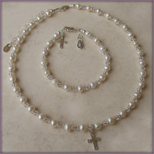 Sterling Silver Children's First Communion Necklace