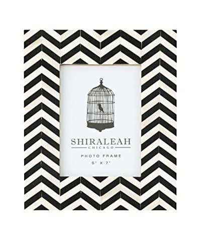 Shiraleah Loft Chevron Inlay Picture Frame, Black