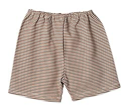 Zutano Candy Stripe Short   Chocolate/Cream, 18 months (12 18 months)