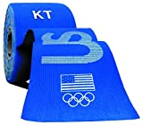 KT TAPE PRO Synthetic Elastic Kinesiology 20 Pre-Cut 10-Inch Strips, Therapeutic Tape, PRO USA Blue