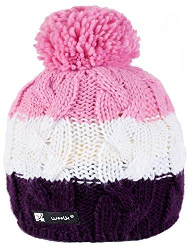 Unisex Winter Cappello invernale di lana Berretto Beanie hat Pera Jersey Sci Snowboard di moda (Skippy 102)