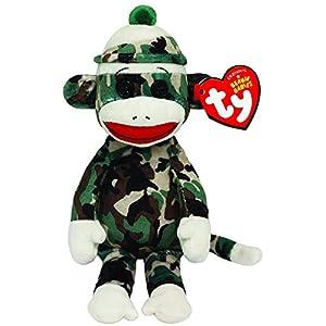 Ty Beanie Babies Sock Monkey Camouflage Plush