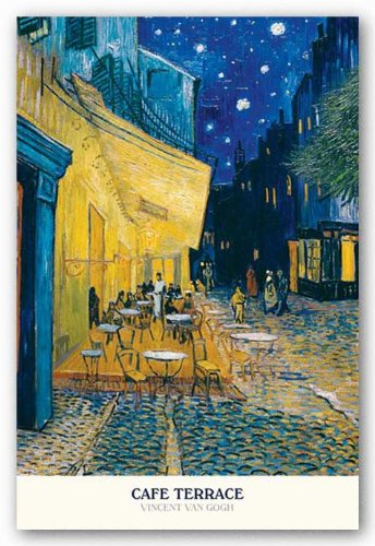 Vincent Van Gogh (Cafe Terrace at Night) Art Poster Print - 24x36