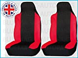 PEUGEOT 207 & 207CC (2006 on) Premium Fabric Seat Covers Red Racing 1+1