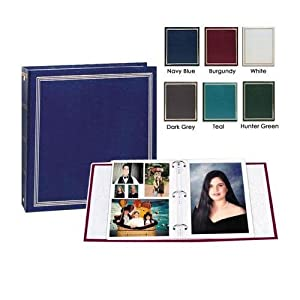 """Pioneer Deluxe 3-Ring Album with 100 7-3/4"""" x 10-3/4"""" Magnetic Pages, Holds 5x7"""" Prints, Color: Hunter Green."""