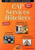 CAP Services hôteliers 2ème année - Professeur