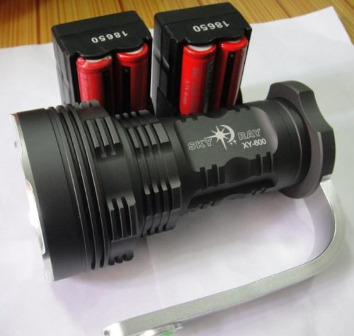 Skyray 8000 Lumen 6X Cree Xm-L T6 Led Flashlight Torch 40W Light 4*18650 Charger
