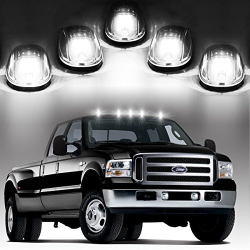 5xCab Roof Running Clearance Marker Lights Clear Lens w/ build-in White 9 LED Assembly for 03-16 Dodge Ram 1500 /2500 /3500/ 4500 /5500 (Led In Cab Lights compare prices)