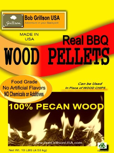 Bob Grillson Usa - *100% Pecan Wood* - BBQ Pellets - Always Look For 100% Stated Wood - 10 Lbs