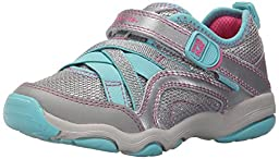 Stride Rite Made 2 Play Serena Sneaker (Toddler/Little Kid), Silver/Blue, 8.5 M US Toddler
