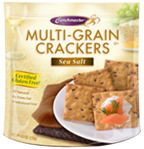 Crunchmaster Cracker - Sea Salt Flavor Gluten Free, 4.5000-Ounce (Pack of 6)
