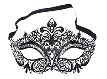 Reutry Women's Laser Cut Metal Venetian Set Auger Masquerade Mask