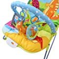 Vibrating baby bouncer with music function - baby bouncer with dinosaur patterns, an arch, and toys by Babyfield