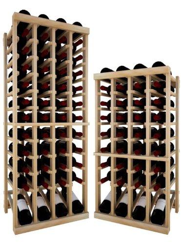 Vintner Series Wine Rack - Individual Bottle Wine Rack - 4 Columns Top Stack With Lower Display front-560415