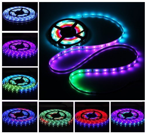 Lemonbest® New Design 5M Waterproof Smd 5050 Led Rgb Dream Magic Colorful 6803 Ic Led Strip Light Dc 12V 150 Leds & 133 Changes Rf Rmote Controller Kit