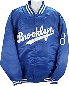 Brooklyn Dodgers MLB Licensed Majestic Cooperstown Satin Blue Jacket Big Sizes by cooperstown collection